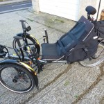 HPV Scorpion 'bent trike with 48V Mojo and 64-tooth chainring