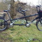 High torque front hub motor and with Brompton front luggage for battery etc. (S bag only)