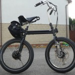 From Steve Parry, this modern 'Crypto Bantam' has a Game Changer gear hub with  a VELO hub motor system